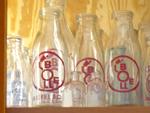 BOLLE Milchflaschen im Museum der Dinge Berlin
