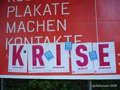Politik klassisch// Poster Aktion 1.Mai 09