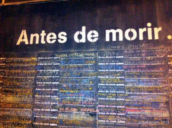 Antes de morir quiero | Wall Santiago 2013
